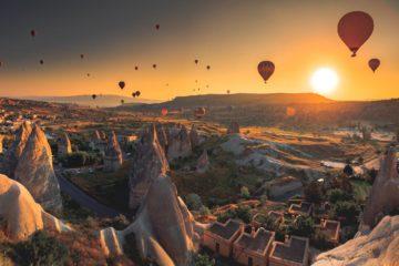 Paseo globo aerostatico en capadocia Turquia