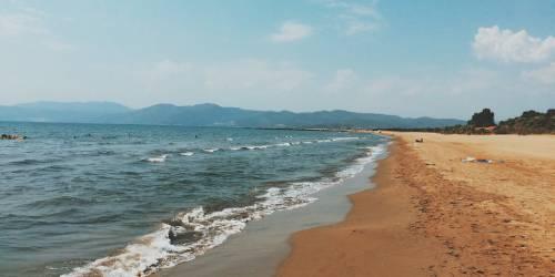 La playa de pamucak turquia