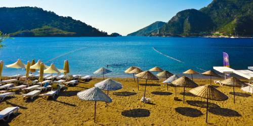 La playa de içmeler marmaris turquia